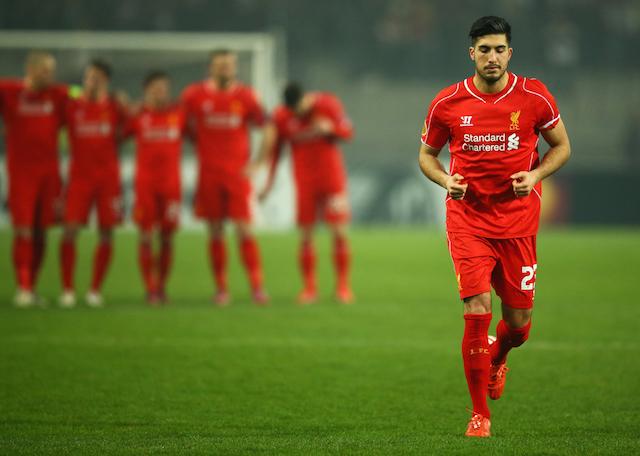 Emre Can Besiktas JK v Liverpool FC - UEFA Europa League Round of 32